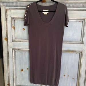 Loomstate for Barney's Green dark gray jersey dres
